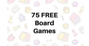 75 Free Board Games