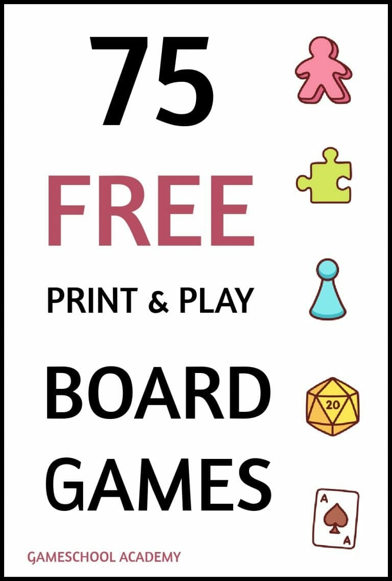 75 Totally Free Board Games